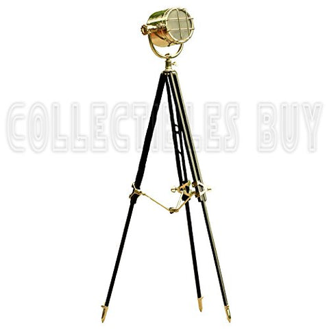 Nautical Ship Floor Lamp Searchlight Black Tripod Vintage Spotlights Marine Corner Lamps - llightsdaddy - Collectibles Buy - Lamp Shades