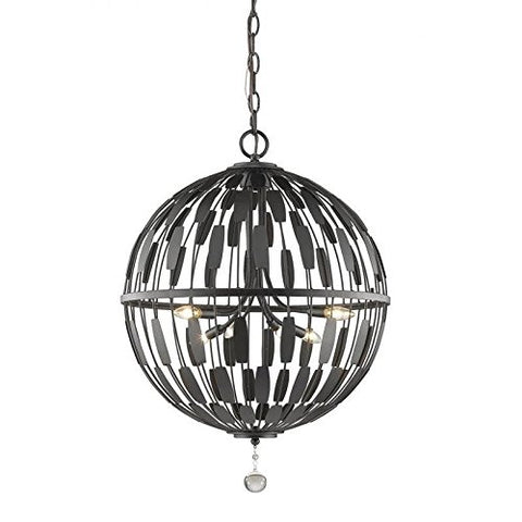 6 Light Pendant 430B24-BRZ - llightsdaddy - Z-Lite - Pendant Lights