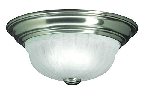 Dolan Designs 521-09 1Lt Satin Nickel Richland 1 Light Flushmount - llightsdaddy - Dolan Designs - Vanity Lights