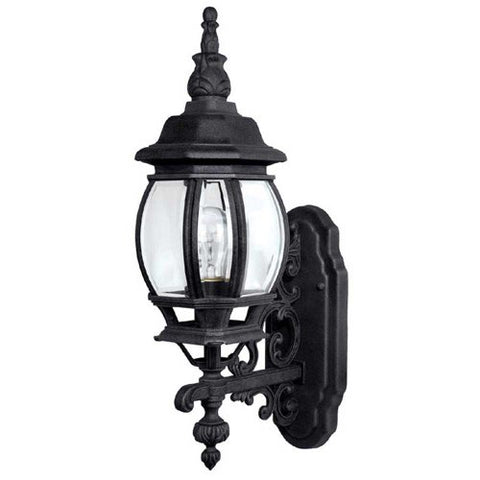 Capital Lighting 9867BK Outdoor Wall Fixture with Clear Glass Shades, Black Finish - llightsdaddy - Capital Lighting - Outdoor Porch & Patio Lights
