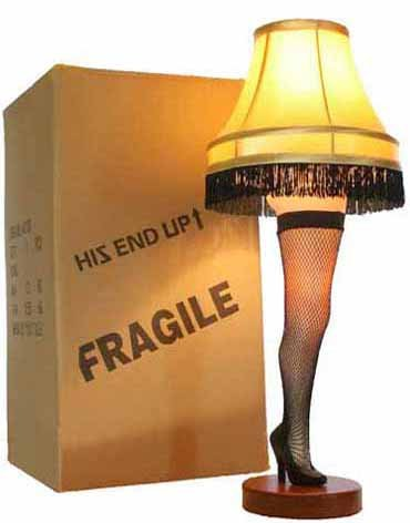 "A Christmas Story 26"" Desktop Leg Lamp - llightsdaddy - A Christmas Story House - Lamp Shades"