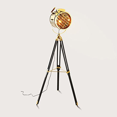 Tripod Living Room Floor Lamp, Retro Industrial Winds Stage Searchlight Photography Lights ( Color : B ) - llightsdaddy - Floor lamps - Lamp Shades