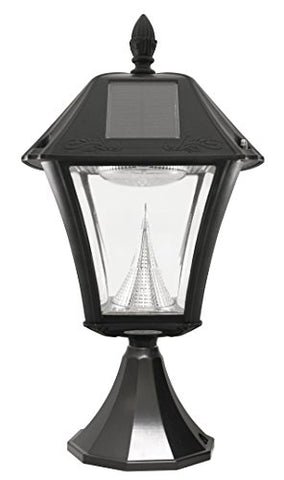 Gama Sonic GS-105FPW-BW Baytown with Fitter Lamp Only, Black - llightsdaddy - Gama Sonic - Outdoor Porch & Patio Lights