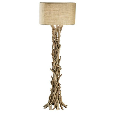 Benzara 67712 The Simple Driftwood Metal Floor Lamp - llightsdaddy - Benzara - Outdoor Floor Lamps