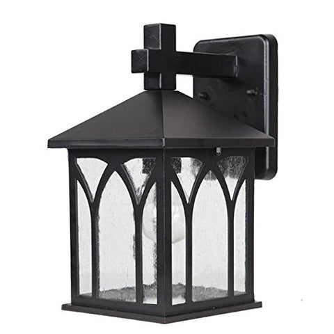 Acclaim 5002BK Builders Choice Collection 1-Light Wall Mount Outdoor Light Fixture Matte Black