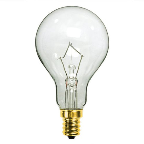 Bulbrite 60A15C/E12 60W 130V Incandescent Fan Bulb A15 Bulb, Clear - llightsdaddy - Bulbrite - Wall Plates