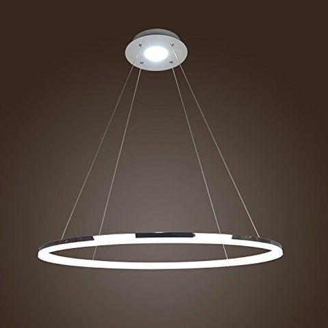 LightInTheBox Modern Simple Design Mini Pendant Living LED Ring Chandelier Ceiling Light for Garage, Game Room, Study Room/Office, Dining Room, Bedroom, Living Room
