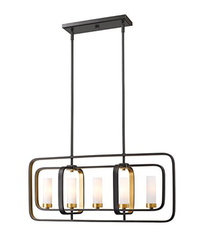 5 Light Island/Billiard 6000-5L-BZGD - llightsdaddy - Z-Lite - Pendant Lights