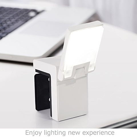 LED Headboard Reading Clip Light LED Cube Clip Light Bedside Lamp Dimmable LED USB Rechargeable Lamp LED Clamp Lights with Cubic Design Without Gooseneck Port(White) - llightsdaddy - AYKEN - Book Lights