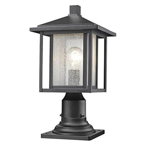 1 Light Outdoor 554PHM-533PM-BK