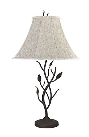 Cal Lighting BO-768 3-Way One Light Hand Forged Iron Table Lamp 150W,33 inches,Matt Black Finish