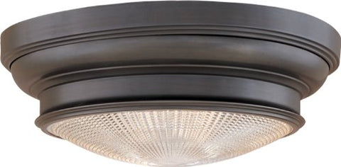 "Hudson Valley Lighting 7516-OB Three Light Flush Mount from The Woodstock Collection, 16"", Old Bronze"