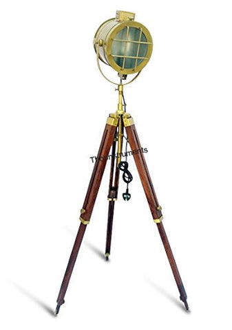 THORINSTRUMENTS (with device) PHOTOGRAPHY DESIGNER FLOOR SEARCHLIGHT SPOTLIGHT WITH HEAVY TRIPOD STAND LAMP - llightsdaddy - THORINSTRUMENTS (with device) - Lamp Shades