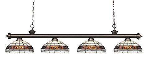 4 Light Billiard Light 200-4OB-F14-1