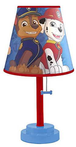 Nickelodeon Paw Patrol Table Lamp with Die Cut Lamp Shade