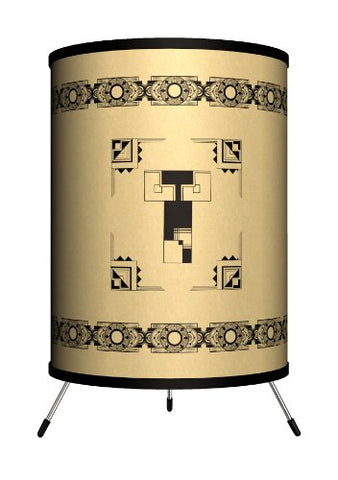 Lamp-In-A-Box TRI-MNG-DECOT Monograms - Deco Letter T Tripod Lamp