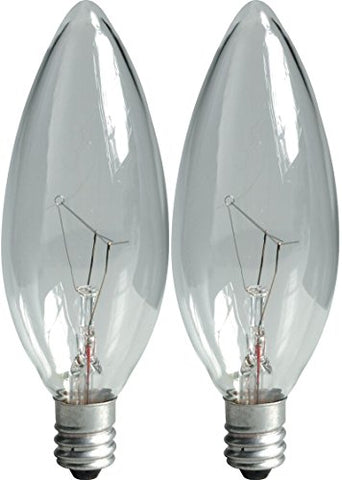 GE Lighting 81561 40-Watt 300-Lumen Decorative B13 Incandescent Light Bulb, Crystal Clear, 2-Pack