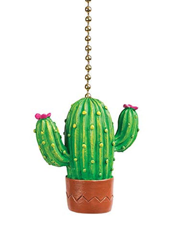 Clementine Designs Cactus Bloom Ceiling Fan Light Dimensional Pull