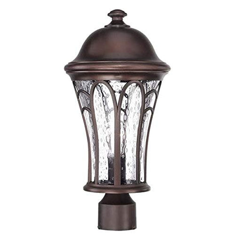 Acclaim 39517ABZ Highgate Collection 1-Light Outdoor Light Fixture Post Lantern, Architectural Bronze - llightsdaddy - Acclaim - Post Lights