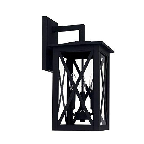 Capital Lighting 926631BK Avondale - Three Light Outdoor Wall Lantern, Black Finish with Clear Glass