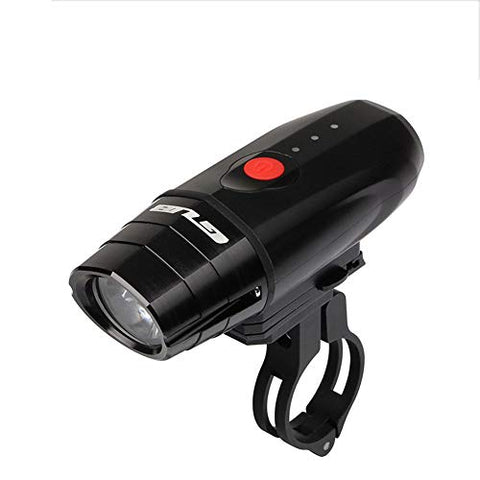 WWWJ Bicycle Headlights Portable Lightweight Torch, USB Rechargeable Waterproof 4 Modes Zoom Dimmable, Outdoor Mountain Bike Clip Lamp