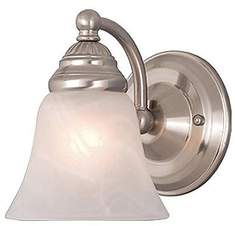 Vaxcel WL35121BN Stanford 1 Light Wall Light, Brushed Nickel Finish