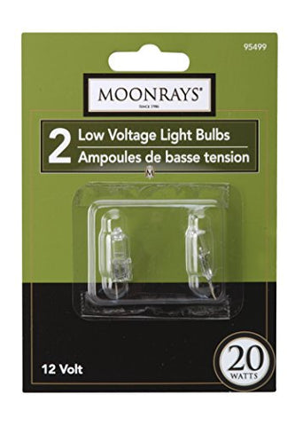 Moonrays 95499 20-watt Halogen Bi-Pin Replacements, 2-Pack - llightsdaddy - Moonrays - LED Bulb