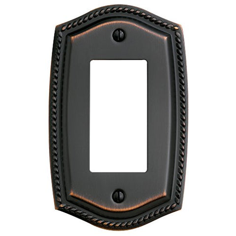 "Baldwin Estate 4796.112.CD Rope Single GFCI Wall Plate in Venetian Bronze, 5.3""x3.9"" - llightsdaddy - Baldwin - Wall Plates"