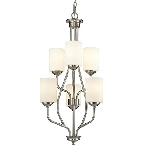 6 Light Chandelier 434-6-BN