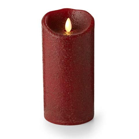 "Luminara 02123-3.5"" x 7"" Rio Red (Unscented) Wavy Edge Realistic Flame Battery Operated LED Wax Candle Light with Timer - llightsdaddy - Luminara - Flameless Candles"
