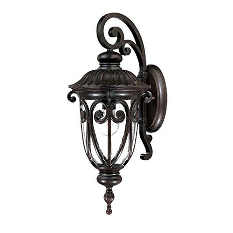 Acclaim 2112MM Naples Collection 1-Light Wall Mount Outdoor Light Fixture Marbleized Mahogany