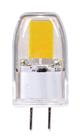 Satco S9544 G6.35 Bulb in Light Finish, 1.63 inches, Clear