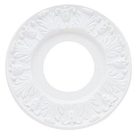 Westinghouse Lighting 7702700 Lighting Ceiling Medallions, Molded Plastic, 10 Inch Dia, 1 Pack, White Finishllightsdaddy.myshopify.com lightsdaddy