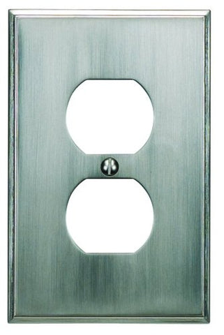 Atlas Homewares SUTPOP-BRN Sutton Place 4-7/8-by-2-3/4-Inch Outlet Plate, Brushed Nickel - llightsdaddy - Atlas Homewares - Wall Plates