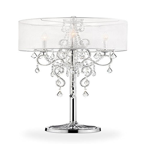 Ore International K-5153F Floor Lamp, Crystal  ORE Lamp Shades llightsdaddy.myshopify.com lightsdaddy