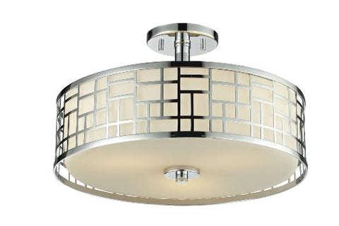3 Light Semi-Flush Mount 328-SF16-CH