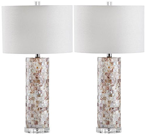 Safavieh Lighting Collection Boise Cream 28.9-inch Table Lamp (Set of 2) - llightsdaddy - Safavieh - Table Lamp