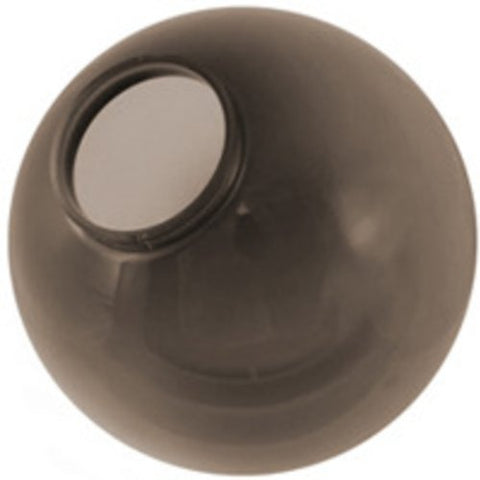 6 in. Smoke Acrylic Globe - Extruded Lip Neck - 3.25 in. Opening - American 3203-50650 - llightsdaddy - American Made Plastics - Fixture Replacement Globes & Shades