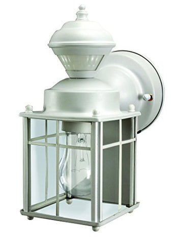Heathco HZ-4132-MW White Bayside Mission Style Motion Activated Lantern - llightsdaddy - Heath Zenith - Outdoor Porch & Patio Lights