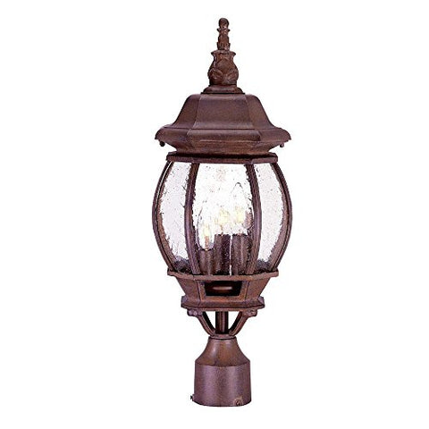 Acclaim 5171BW/SD Chateau Collection 3-Light Post Mount Outdoor Light Fixture, Burled Walnut - llightsdaddy - Acclaim - Post Lights