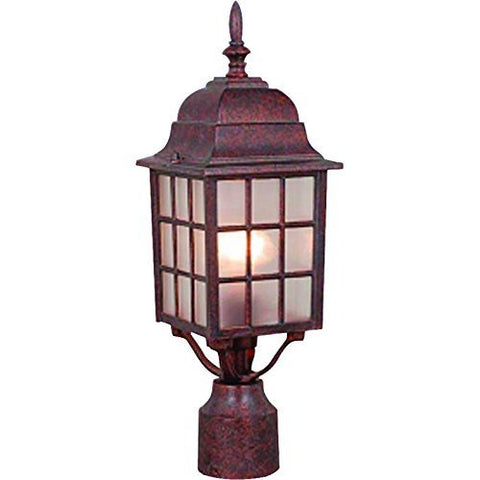 Hardware House 54-4700 Jelly Jar - One Light Outdoor Flush Mount, Satin Nickel Finish with Ribbed Glass