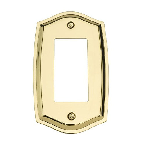 Baldwin 4785.030.CD Colonial Design Single GFCI Switch Plate, Polished Brass - Lacquered - llightsdaddy - Baldwin - Wall Plates