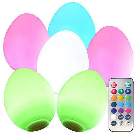 Donbala Multi-Colored Egg Led Lamp, Gift For Baby Shower, Holidays, Christmas, Halloween, Party Decor, Back To School, Birthday Party, Easter (Pack Of 6)