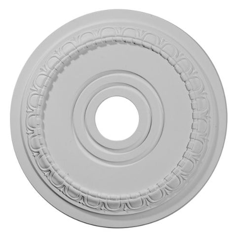 "Ekena Millwork CM17MU Munich Ceiling Medallion, 17 1/2""OD x 3 5/8""ID x 1""P (Fits Canopies up to 5 5/8""), Factory Primed"