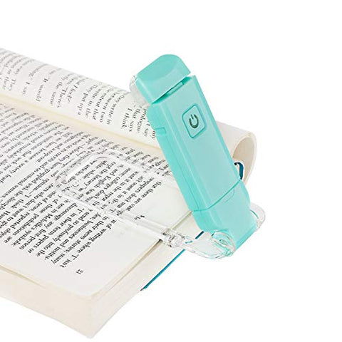 DEWENWILS USB Rechargeable Book Reading Light, Warm White, Brightness Adjustable, LED Clip on Book Lights for Reading in Bed, Perfect for Bookworms, Kids, Blue - llightsdaddy - Dewenwils - Book Lights
