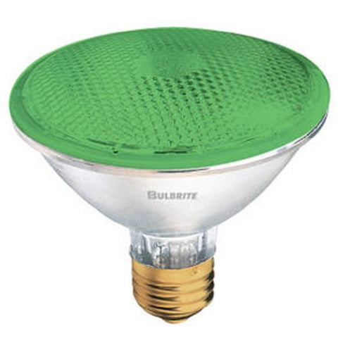 Bulbrite H75PAR30G 120V 75W PAR30 Halogen Light, Green - llightsdaddy - Bulbrite - Halogen Bulbs