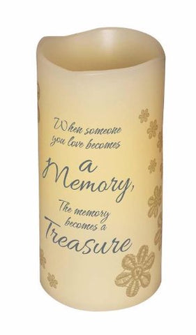 "6"" Flameless Vanilla Scented Memory Pillar Candle, Flickering Led Light - llightsdaddy - Carson Home - Flameless Candles"
