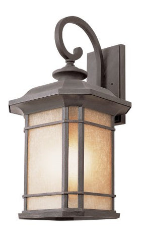 Trans Globe Imports 5822 RT Transitional Three Light Wall Lantern from San Miguel Collection in Bronze/Dark Finish Rust