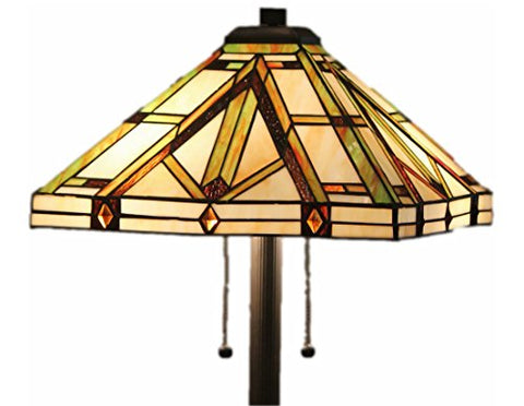 Tiffany Style Stained Glass Floor Lamp Golden Mission  Aspen Tiffany Lamp Shades llightsdaddy.myshopify.com lightsdaddy