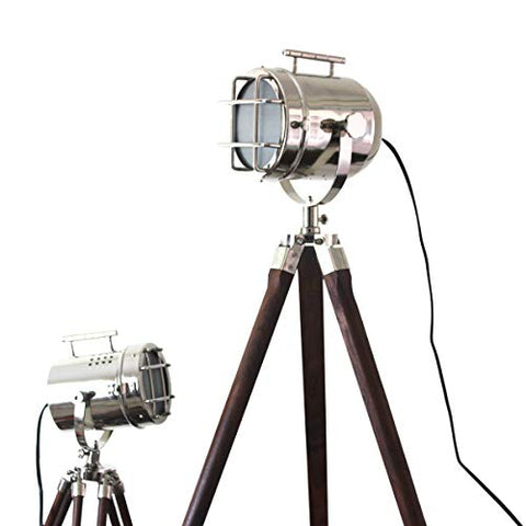 Nautical Ship Spotlight Marine Sailor Floor Lamp & Table Lamp Combo E27 LED Light - Adjustable Tripod Searchlight - llightsdaddy - Collectibles Buy - Table Lamp